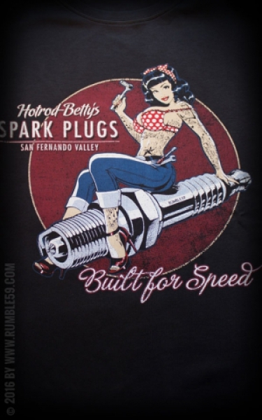 Rumble59 Shirt Hot Rod Betty - Spark Plugs