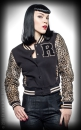 Rumble59 Collegejacke Leopardenmuster
