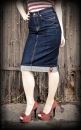 Rumble59 Perfect Pencil Skirt - Denim